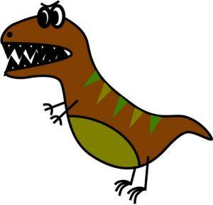 dessin tyranosaure