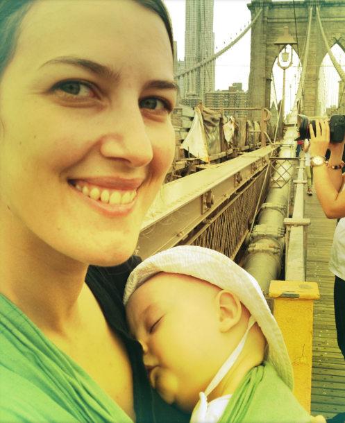 portage de bébé tourisme new-york pont de brooklyn