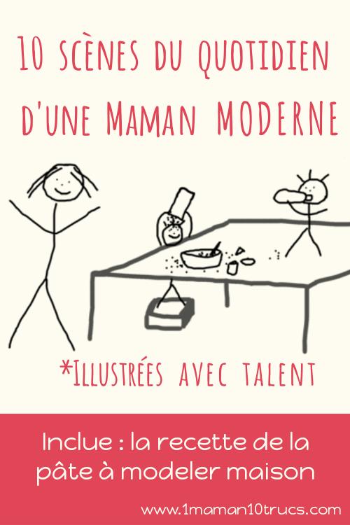 scènes du quotidien d'une maman moderne