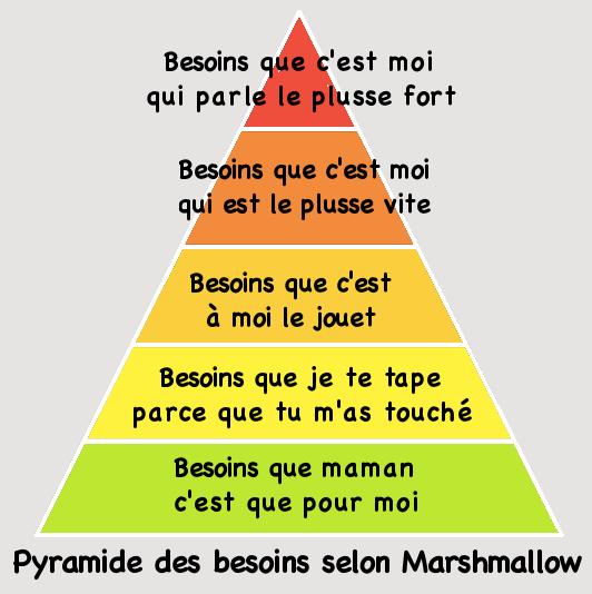 pyramide des besoins entre frères et soeurs