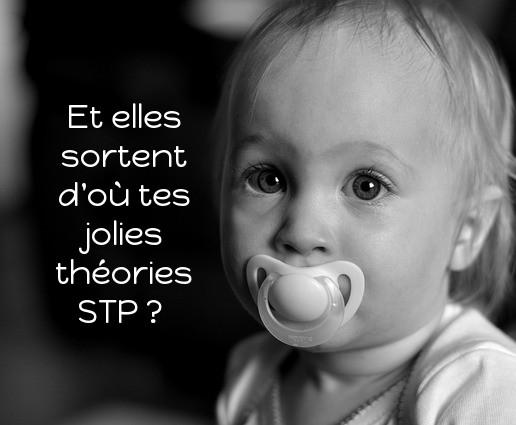 bébé tétine jolies théories